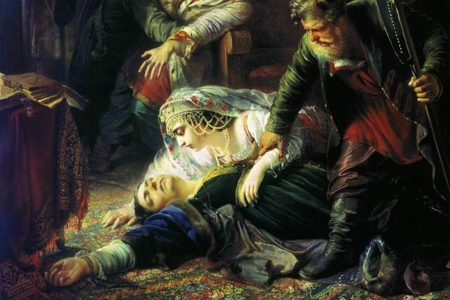 были открыты тюрьмы, где томились жертвы царя Бориса. Царь Федор Борисович и Царица-вдова были взяты под стражу