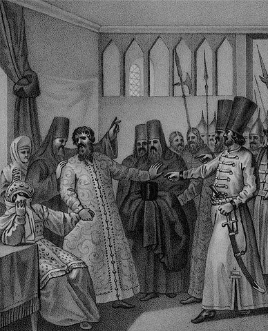 В. Шуйский  сведен с престола и насильно пострижен в монахи