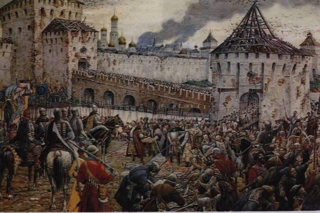 Второе ополчение подошли к Москве