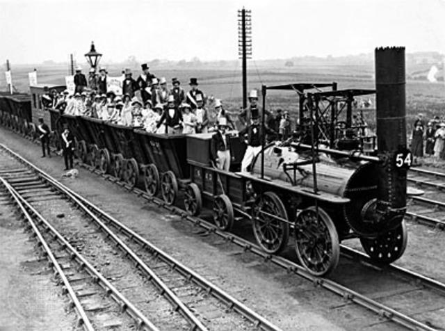 First passenger-carryingrailroadin England