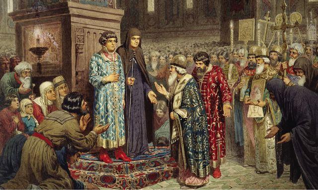 Восшествие на престол династии Романовых.