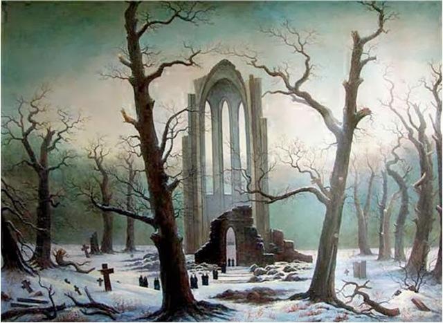 Kloosterbegraafplaats In De Sneeuw
