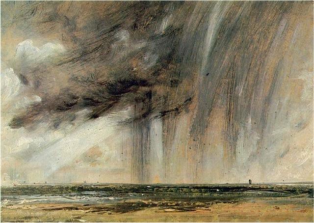Wolken Voor De Kust Van Brighton
