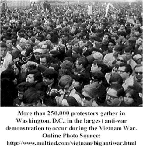 Protests against the vietnam war begin