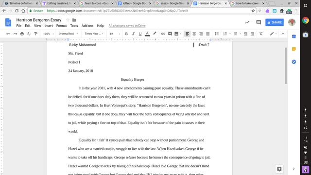 First Essay