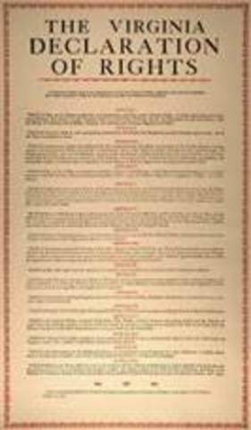 La Declaración de Derechos de Virginia.
