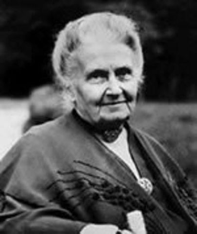 (1870-1952) MARIA MONTESORRI