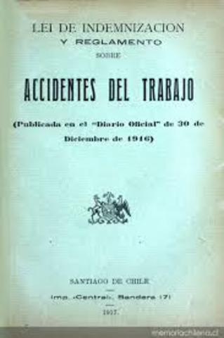 (1911)  Ley que regula la indemnización al trabajador.