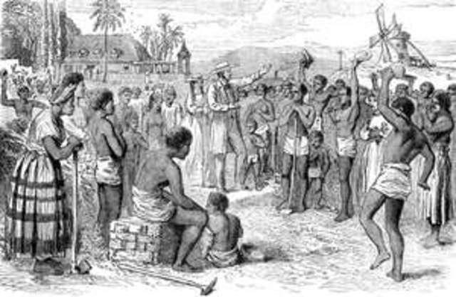 Slavery abolished in British Empire