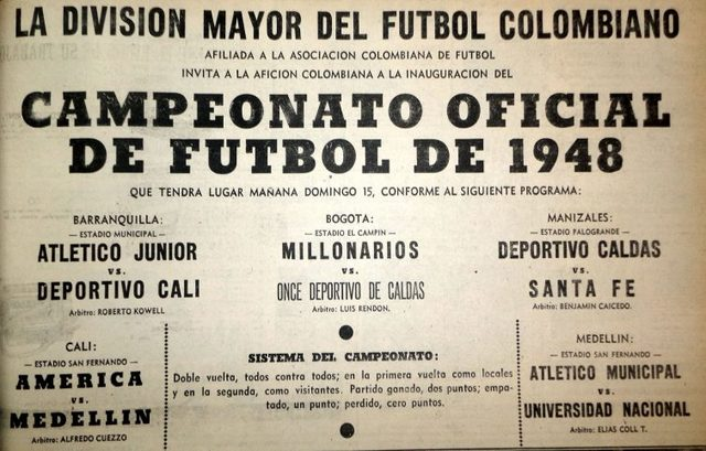 Nace la liga Colombiana