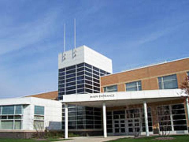 Arriving at West Aurora High School