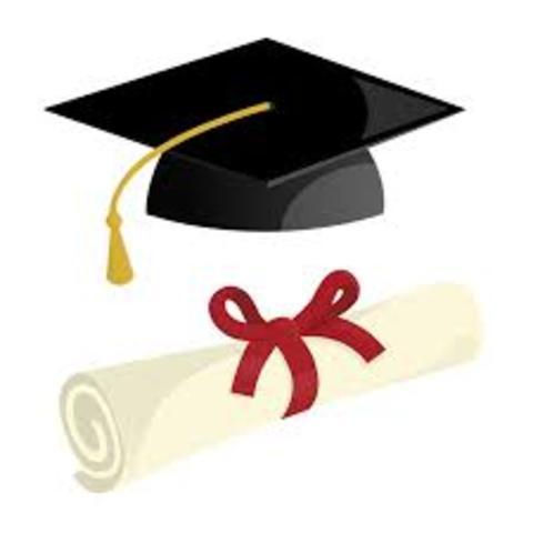 I'll finish highschool and graduate.