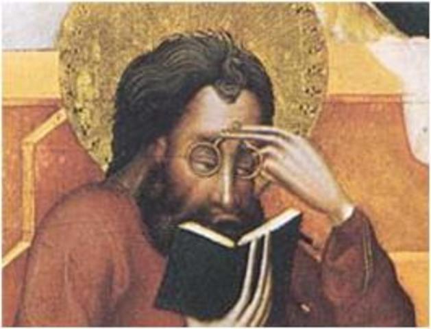 Salvino d'Armate - Inventa los anteojos.