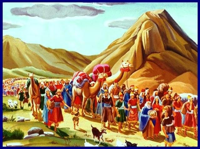 Salida del pueblo de Israel de Egipto.