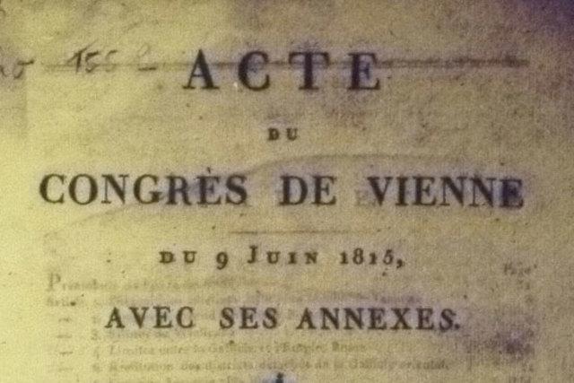 ACTA PRINCIPAL DEL CONGRESO DE VIENA