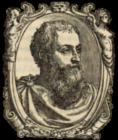 """Unos de los primeros trabajos de estadística en el sentido de descripción del estado apareció en Venecia , su título era """"Del Governo et Amministratione di diversi Regni, cuyo autor fue Francesco Sansovino et Republiche"""