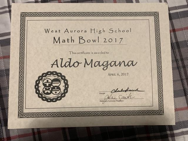 I kinda won the math bowl - again