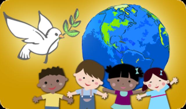 La asamblea general de las naciones unidas  proclama la declaración de los derechos de los niños.