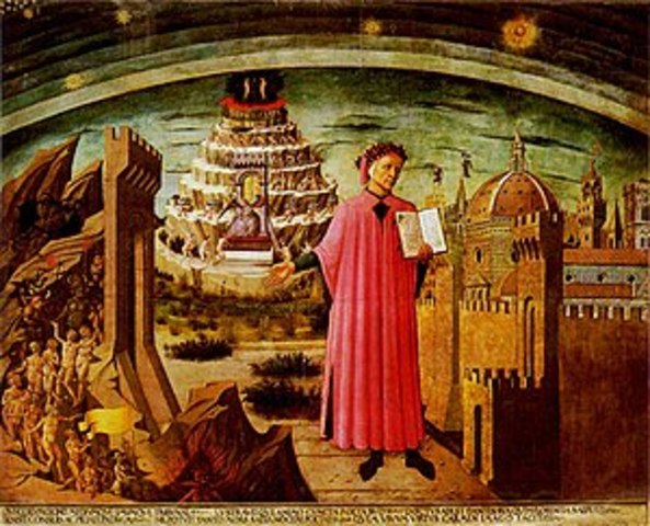 Dante writes his epic poem the Divine Comedy