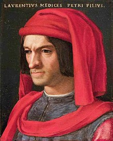 Lorenzo de Medici ascends to power in Florence
