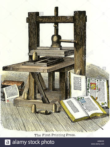 Johannes Gutenberg invented the printing press.