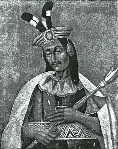 Huáscar becomes ruler of the Inca empire