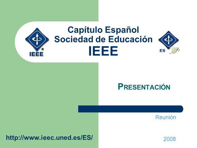 El comité de IEEE para estándares de IS