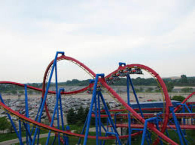 I went to Six Flags with my family!