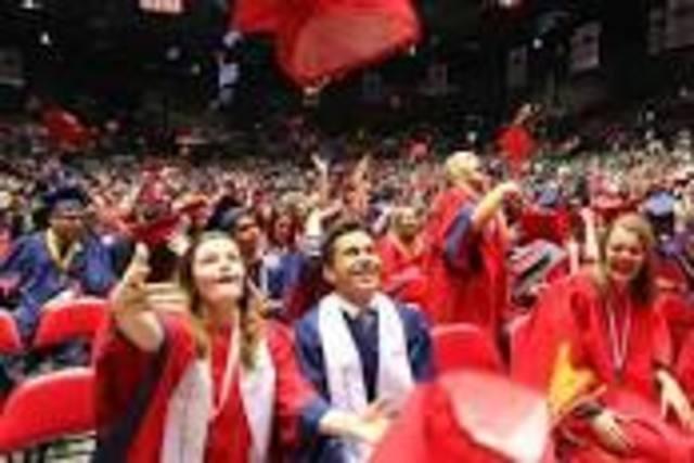 I graduate high school as valedictorian!