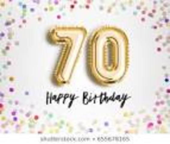 I want to have a huge birthday party to celebrate being 70!