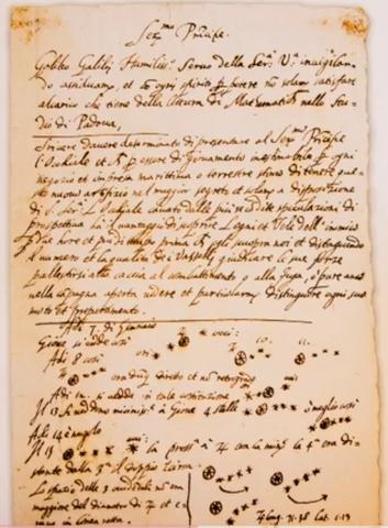 Galileo studies planets with his telescope