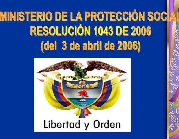 Resolución 1043 de Abril 3 de 2006