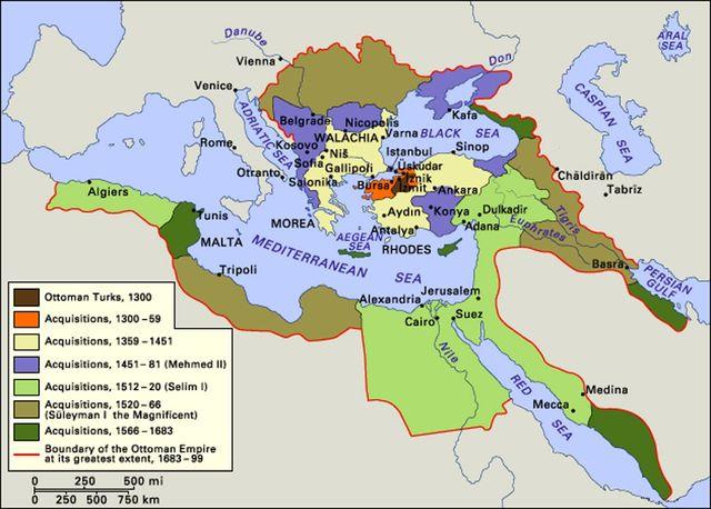 Ottoman Empire Now Borders The Mediterranean Sea