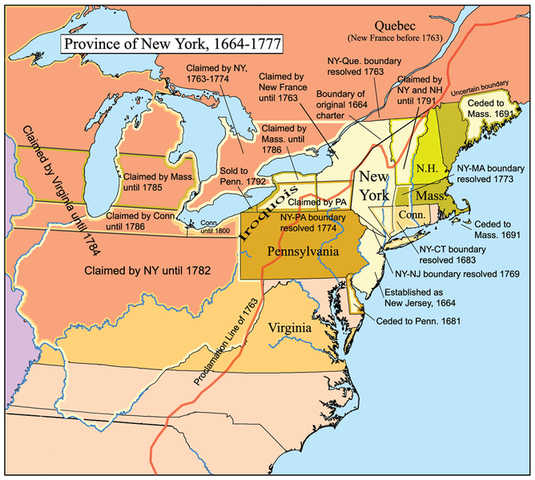 England takes over the Colony (New York)