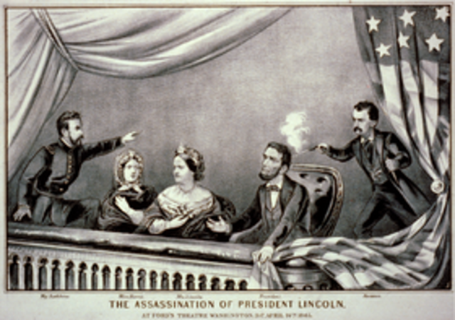 Abraham Lincoln assasinated