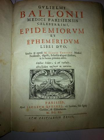 Publicación del libro Epidemiorum.