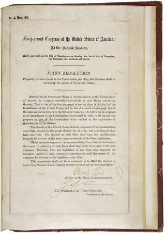 17th Amendment is passed