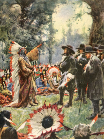 William Penn meets with the Delaware Indians