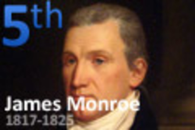 James Monroe takes Oath as the 5th President of the USA