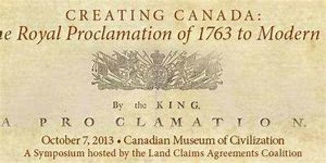 Proclamination of 1763th