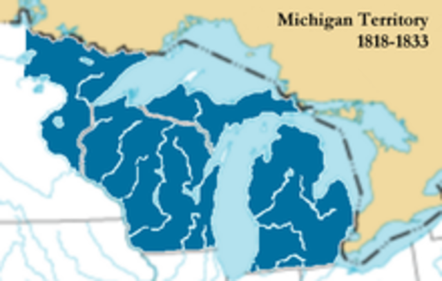 The Michigan Territory is established.