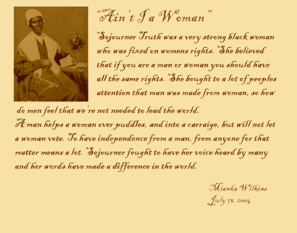 Aint i a Woman? speech