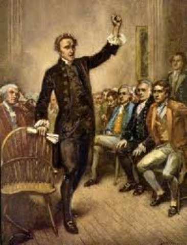 """Patrick Henry's """"Give me liberty, or give me death"""""""