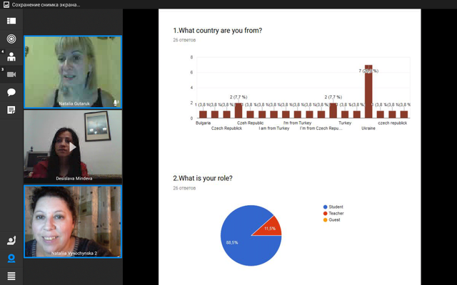 Online-meeting with Bulgarian students