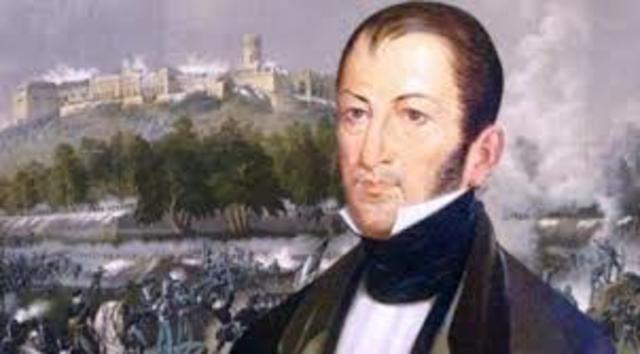 El realista Armijo hace prisionero a Nicolás Bravo en el rancho de Dolores.