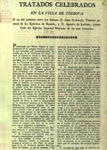 Se firman los tratados de Córdoba