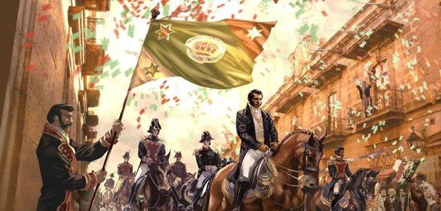 Entrada del Ejército Trigarante a la ciudad de México. Se consuma la independencia de México.
