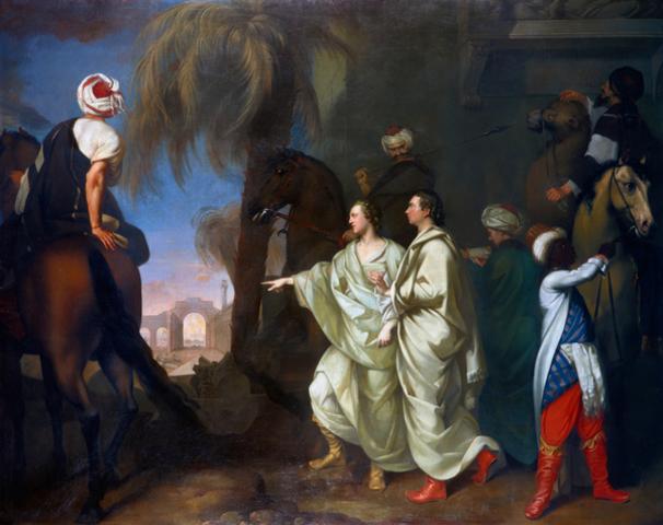 Achilles Lamenting the Death of Patroclus - Gavin Hamilton