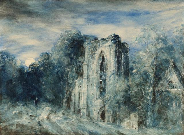 Netley Abbey by Moonlight - John CONSTABLE
