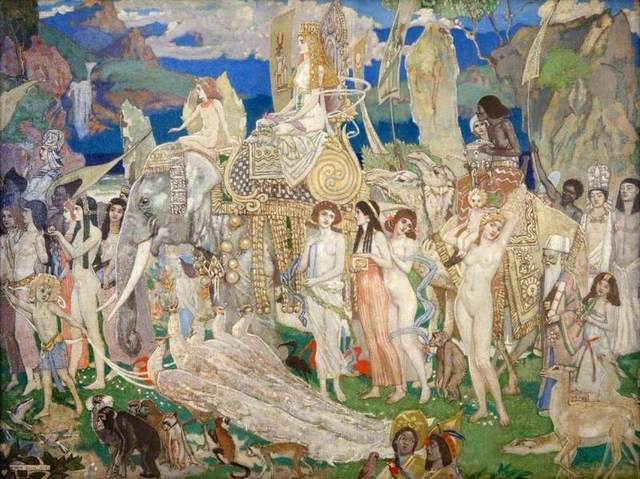 Ivory, Apes and Peacocks (The Queen of Sheba) - John DUNCAN